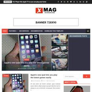 X-mag fast loading free blogger theme