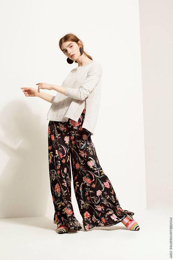 Palazzos primavera verano 2018 ropa de moda. Moda mujer verano 2018.