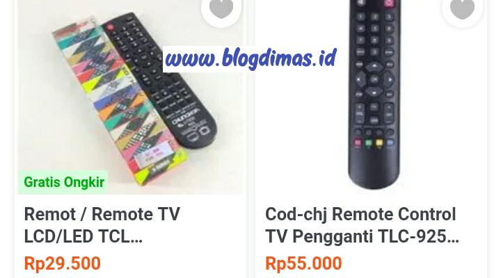 Kode remot TV TCL