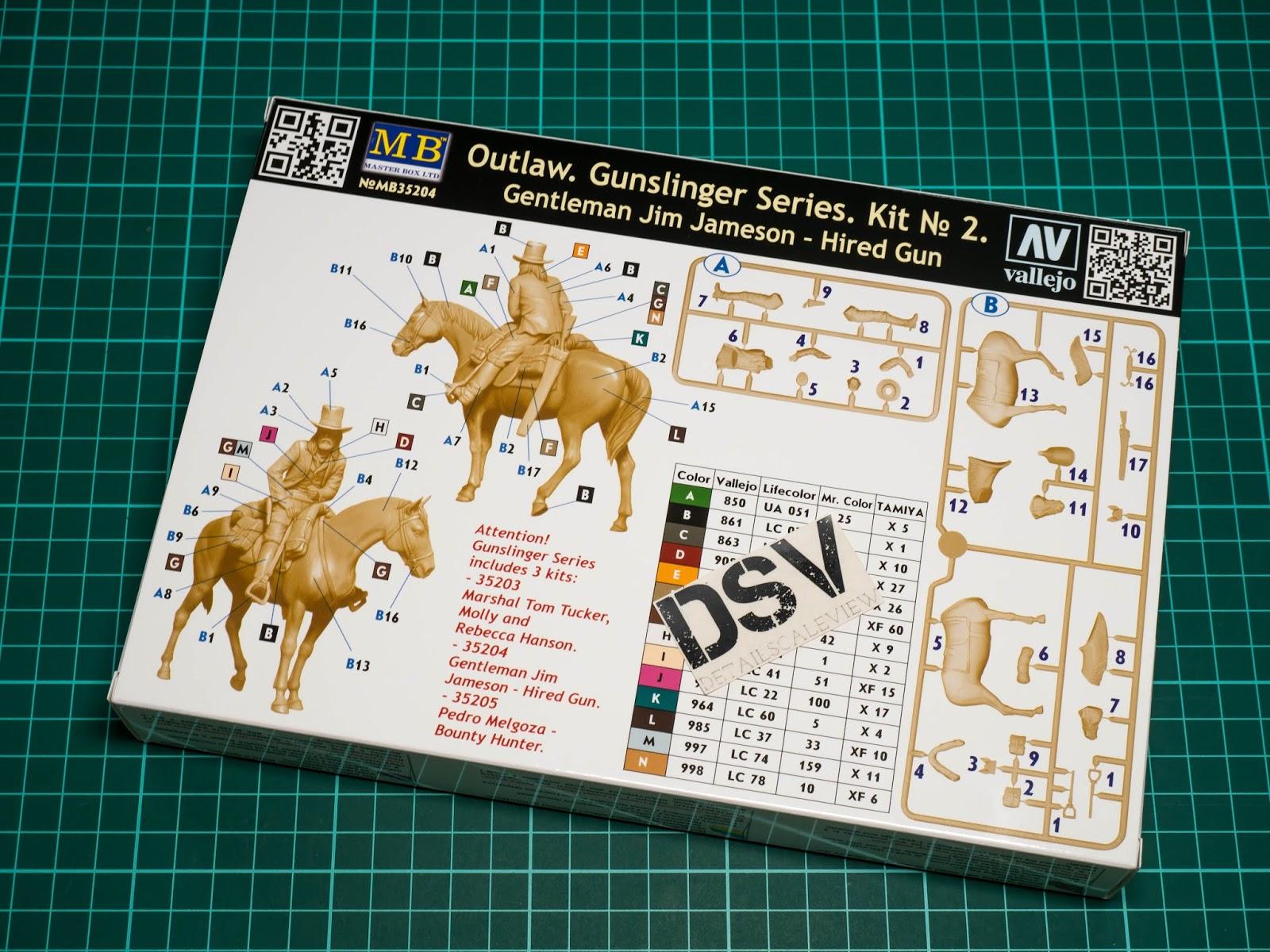 1:35 Outlaw Gunslinger 2 Gentleman Jim Jameson Master Box 35204