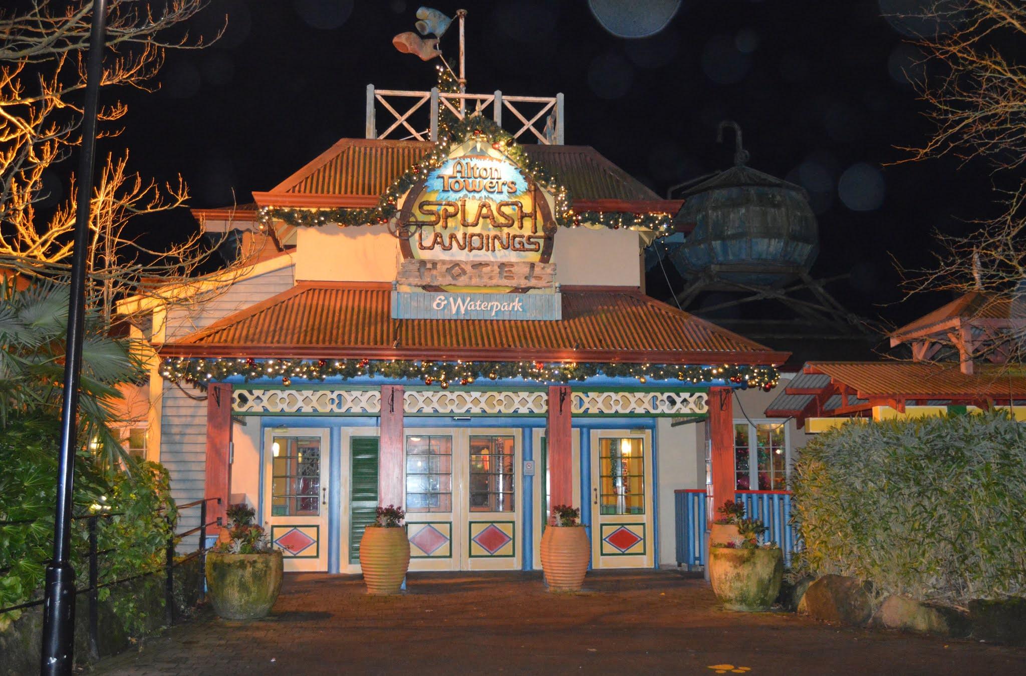 Outside the Splash Landing Hotel