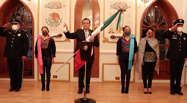De manera virtual, Sánchez Jasso conmemora aniversario de la Independencia de México