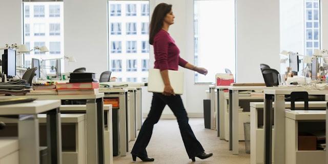 bureau travail marcher exercice