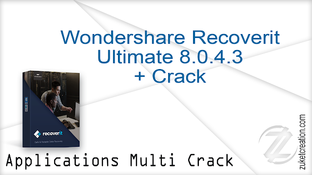 Wondershare Recoverit Ultimate 8.0.4.3 + Crack   |  69 MB