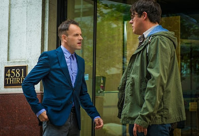 Harlan Emple Rich Sommer with Jonny Lee Miller as Sherlock Holmes in CBS Elementary Season 3 Episode 3 Just a Regular Irregular
