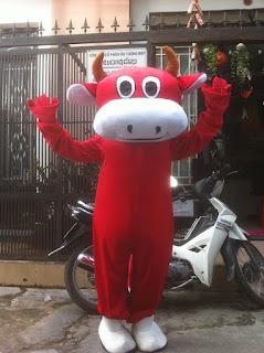 bán thuê mascot con bò