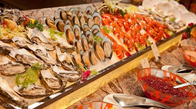 seafoods in the JW Marriott Hotel Macau