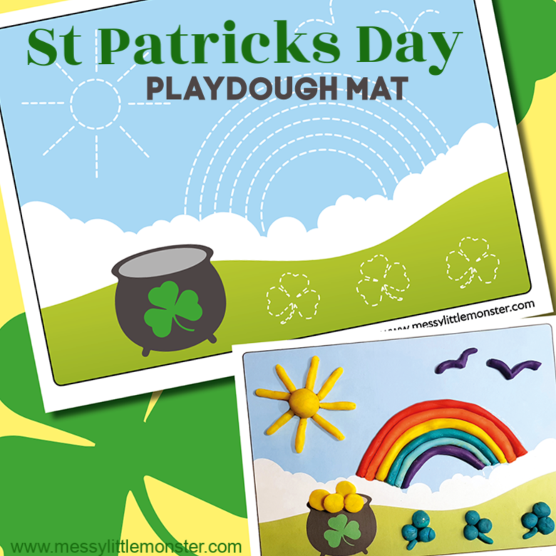 St Patricks Day Playdough Mat