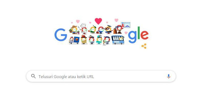 Thank You Coronavirus Helpers Become Google Indonesia for Doodle