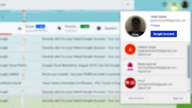 How to change Gmail password in computer