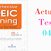 Listening Comprehensive TOEIC Training - Actual Test 04