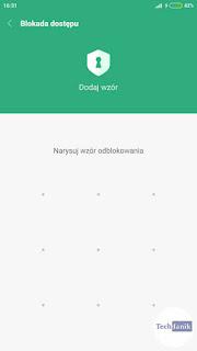 Xiaomi Dodawanie wzoru blokady aplikacji