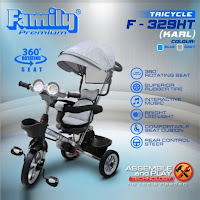 sepeda roda tiga anak family f329ht karl bmx baby tricycle