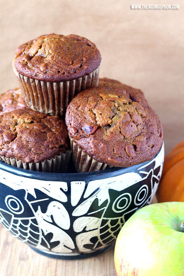 The Best Pumpkin Apple Muffins (Easy & Healthy Recipe Made in One Bowl)