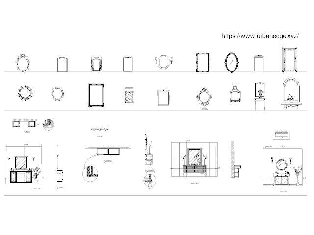Bathroom mirrors dwg cad blocks free download - 30+ free cad blocks