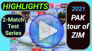 Zimbabwe vs Pakistan Test Series 2021