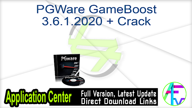 PGWare GameBoost 3.6.1.2020 + Crack