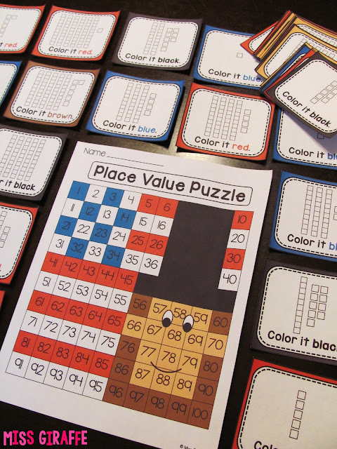 Abraham Lincoln place value puzzle to practice numbers on the 120 chart and other fun Presidents' Day math and literacy activities