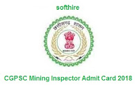 CGPSC Mining Inspector Admit Card