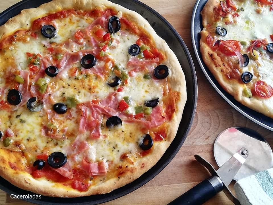 la pizza casera mas rica y fácil de preparar