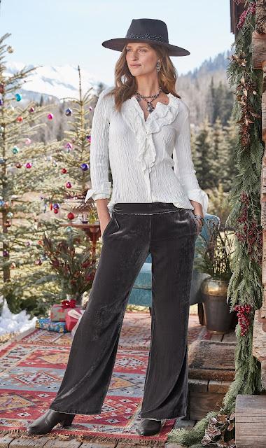 sundance catalog velvet pants
