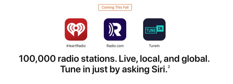 Live Radio Station Streams Rolling Out For Some HomePod And