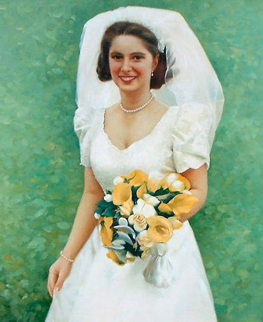 Artist John Allsopp charges £450.00 for a portrait in oil featuring a bride.