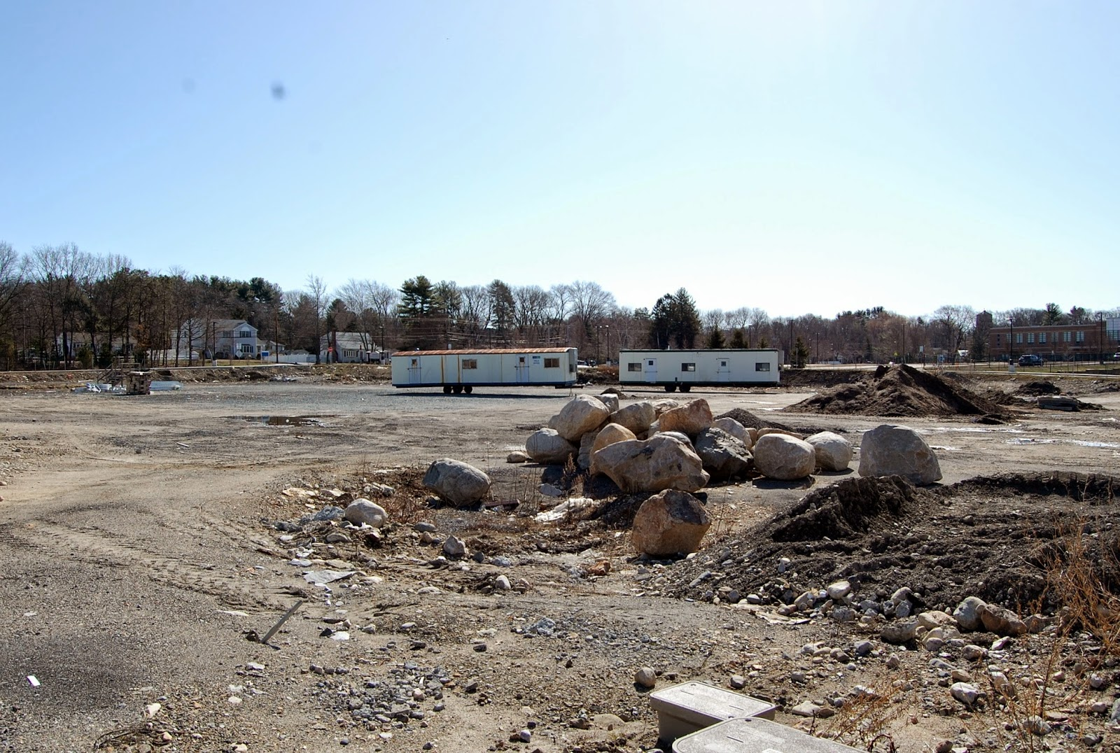 the site of the future turf field as it appeared on Apr 12