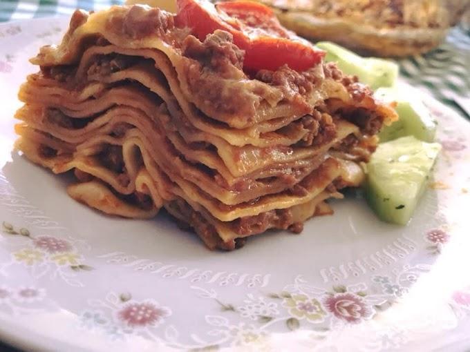 Λαζάνια με κοτόπουλο, μοσχάρι και χοιρινό (Ιταλική συνταγή)
