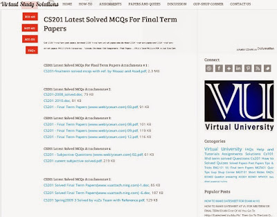 cs201 latest solved mcqs for final term
