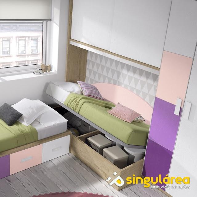 Blog dormitorios juveniles com dormitorios juveniles con for Dormitorios juveniles dos camas en l
