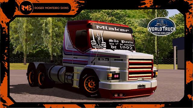 Skins World Truck, Skins Scania 113, Pintura Personalizada, Scania 113, 113