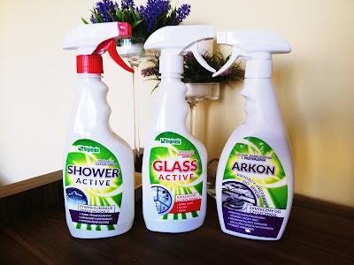 Recenzja: Produkty czyszczące Higienix Shower Active, Glass Active, Arkon