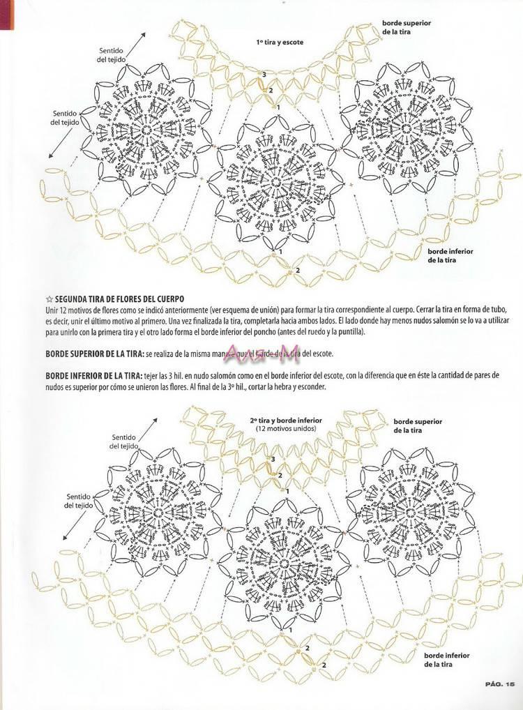 Magnífico Crochet Patrón Redecilla Embellecimiento - Manta de Tejer ...