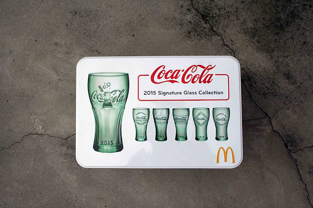 McDonald's x Coca-Cola 2015 Signature Glass Collection