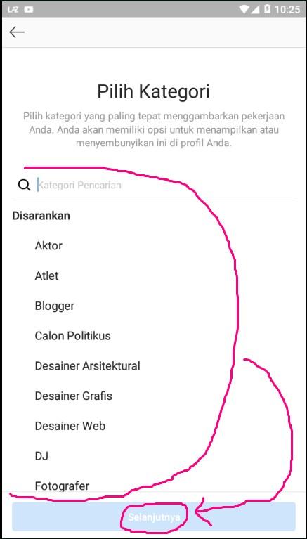 Memilih Kategori Kreator yang Sesuai Dengan Pekerjaan atau Hobby.