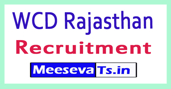 Department of Women and Child Welfare WCD Rajasthan Recruitment