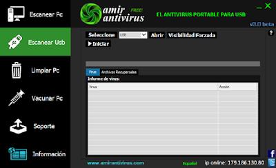 ANTIVÍRUS AMIR FREE PORTABLE EM ESPANHOL