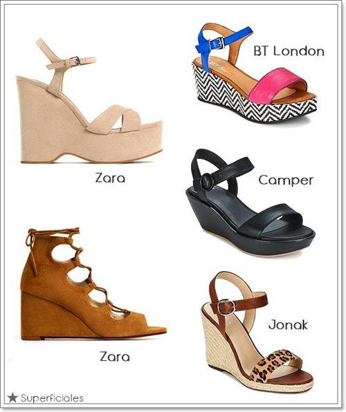sandalias cuña verano
