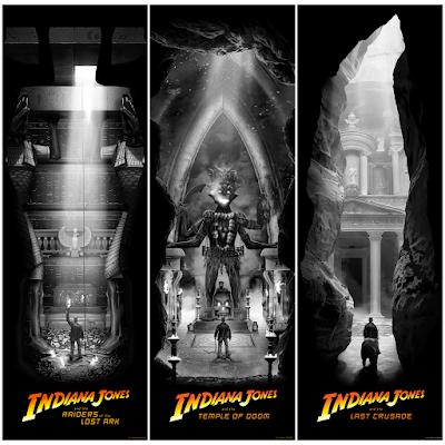 Indiana Jones Trilogy Giclee Prints by Ben Harman x Bottleneck Gallery
