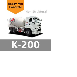 Harga Beton Cor Mutu K-200