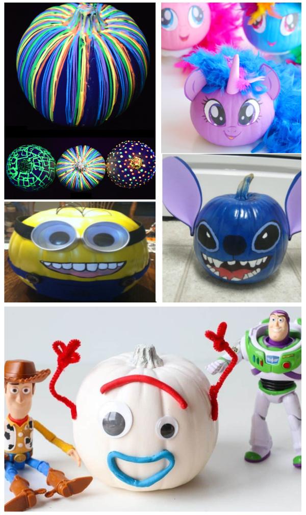50+ pumpkin decorating ideas for kids that don't require carving! #nocarvepumpkins #pumpkindecoratingideas #kidspumpkinpainting #growingajeweledrose #fallcrafts