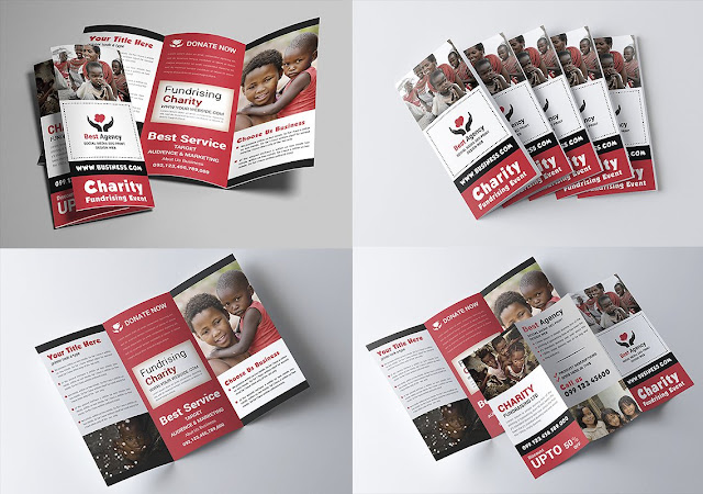 The design of open psd brochures is ready for adjustable relief designs