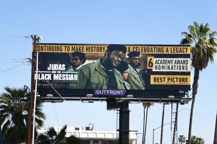 Judas and Black Messiah Oscar nominee billboard