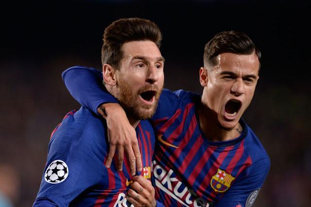 Lionel Messi Philippe Coutinho FC Barcelona