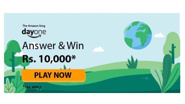 Amazon Blog Day One Quiz Answers - Win ₹5000 Pay Balance