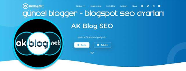 Güncel Blogger SEO Ayarları
