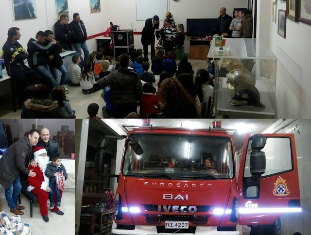 Η Χριστουγεννιάτικη γιορτή στην Πυροσβεστική Υπηρεσία Ηγουμενίτσας