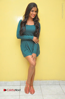 Telugu Actress Prasanthi Stills in Green Short Dress at Swachh Hyderabad Cricket Press Meet  0119.JPG