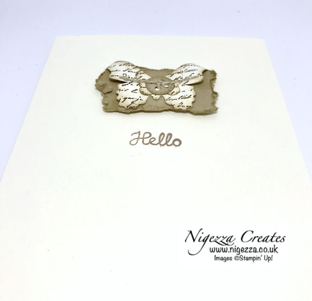 Nigezza Creates with Stampin' Up! Facebook Live Replay: Feb 25th Shabby Chic Clean & Simple Card!